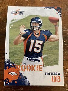 2010 Score Tim Tebow #396 Rookie Denver Broncos Jacksonville Jaguars TE