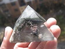 102g  NATURAL phantom  QUARTZ CRYSTAL Pyramid Healing   P641