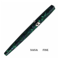 Chinese Sungmax Magic Forest cat  Fine Nib Fountain Pen Green