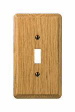 Amerelle  Contemporary  1 gang Wood  Toggle  Wall Plate  1 pk