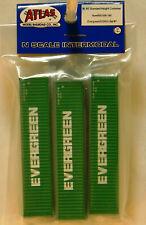NIB N Atlas #50004160 40' Containers Evergreen EGHU Set #1 3 Pk