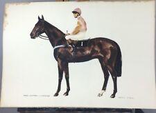 "Kevin Stack Original Watercolour Painting ""Tree Leopard- J. Mercer"" Horse Racing"