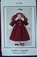"""Debbie's Originals Doll Pattern for 27"""" doll by Donna Rubert"""