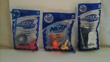 3 NEW IN PACK McDONALD'S HAPPY MEAL 2007 FLY WHEELS/ NURF #1,#3,#3 PARTY FAVORS