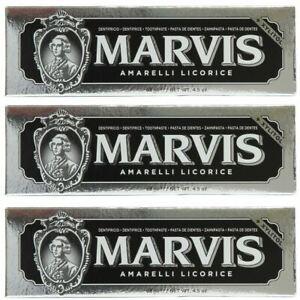 Marvis Amarelli Liquorice Mint Toothpaste 85m x 3 Triple Pack UK STOCKIST