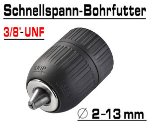 "Schnellspann Bohrfutter Akkuschrauber Bohrmaschine Futter 2-13mm 3/8"" UNF G00511"