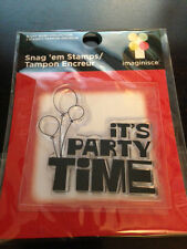 """Imaginisce Birthday Bash """"Time to Party"""" Clear Stamp!"""