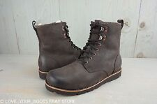 UGG HANNEN TL STOUT LEATHER SHEEPSKIN LINED MENS BOOTS US 8 NIB