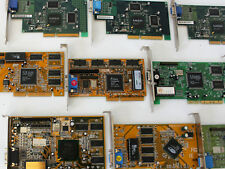 Lot of 10 Old AGP Cards - ALL CARDS TESTED AND WORKING