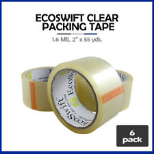 6 Rolls Ecoswift Brand Packing Tape Box Packaging 16mil 2 X 55 Yard 165 Ft