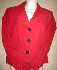 JM Collection Macy's Womens Red Faux Suede Jacket Petite Size 12P Beautiful