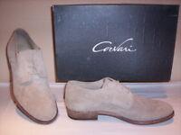 Scarpe classiche Corvari uomo shoes men casual pelle camoscio cuoio beige 40 41