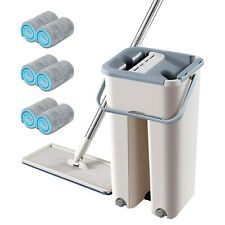 New Microfiber Mop With Bucket 2/4/6/8PCS Replacement Mop Cloth Floor Cleaning