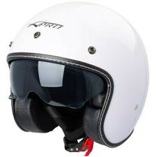 Motorcycle Helmet Jet Cafe Racer Approved Ece 22-05 Sunshade Scooter White