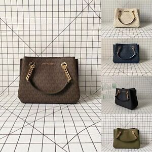 Michael Kors Teagen Small Messenger Signature MK Crossbody Bag Handbag