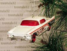 '57 CADDY POLICE CAR 1957 CADILLAC ELDORADO BROUGHAM CHRISTMAS ORNAMENT XMAS