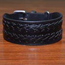 "Heavy Duty 2"" Wide Dog Collar Adjustable XXL Braided Pet Collar For Big Breeds"