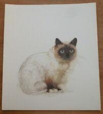 Vintage Mads Stage Print - Burman Cat