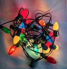 Vintage Christmas Lights 1 string 23 bulbs missing 2 bulbs WORKS