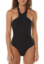 BRAND NEW + TAG BILLABONG WOMENS (8) ECLIPSE ONE PIECE SWIMWEAR SWIMSUIT BLACK
