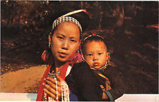Thaïlande - cpsm - Hill tribe Meo woman carring her child on the back