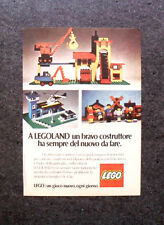K681-Advertising Pubblicità-1974- LEGOLAND , LEGO , UN GIOCO NUOVO OGNI GIORNO