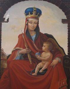 8X10 PRINT OF PAINTING RYTA EASTER MARY JESUS ICON ANTIQUE STYLE CATHOLIC XMAS