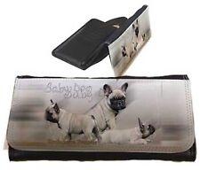 Frauen Geldbörse Brieftasche Französische Bulldogge 4 Welpen French Bulldog falb