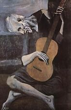 OLD GUITARIST PABLO PICASSO CLASSIC ART PRINT 24x34.5 man holding guitar poster