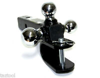 """Triple Ball Mount Hitch With U Pull Hook Trailer With Pin for 2"""" Hitch Receiver"""