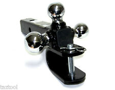 "Triple Ball Mount Hitch With U Pull Hook Trailer With Pin for 2"" Hitch Receiver"