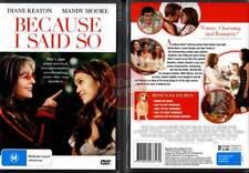 BECAUSE I SAID SO Diane Keaton Mandy Moore NEW DVD R4 (Region 4 Australia)