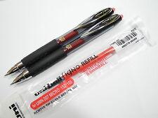 2 pen + 5 refill UNI-BALL 207 0.5mm roller ball pen RED(Japan)