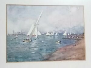 Isle of Wight 1911 Publication Print Yachting At Cowes By A Heaton Cooper