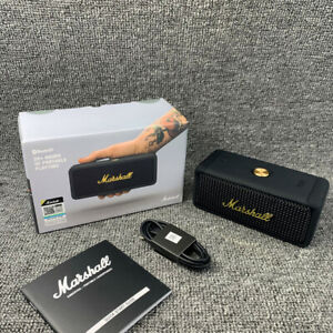 Marshall - Emberton Portable BT Bluetooth Speaker - Black & Brass