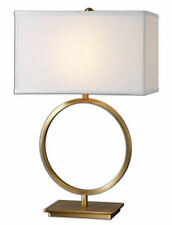 "Duara Gold Circle Contemporary Metal Table Lamp 29""H by Uttermost 26559-1"