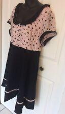Disney Swing Dress 2X /3X SZ 24 Black And Pink