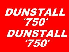 Dunstall 750 Tank Transfers Decals Stickers Motorcycle Norton Various Colours