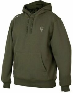 Fox Collection Green Silver Hoody Hoodie *All Sizes* NEW Carp Fishing