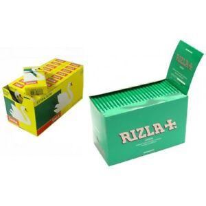 1200 X Rizla Green Regular Rolling Papers & Swan Extra Slim Filter Tips Smoking