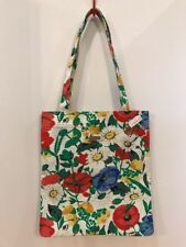 Jim Thompson Shopper Tote Bag Colorful Floral Print Canvas Handbag New With Tag