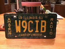 1963 Illinois Amateur Radio License Plate