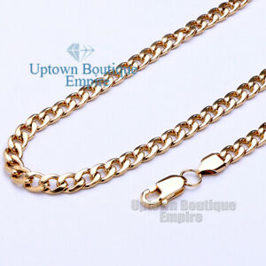 """18-36"""" Women Men's Stainless Steel Cuban Curb Link Necklace 3-12mm Chain"""