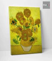 🌼Quadro Van Gogh Girasoli Stampa HD su Tela Canvas in Cotone Vernice Pennellate