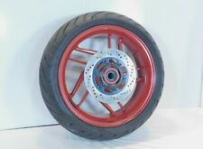 Ducati Monster & Panigale Red Rear Wheel Rim w/ Rotor & Pirelli Tire - Straight