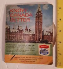 """RARE CANADIAN (1950'S ?) """"WESTON BAKERIES -KNOW CANADA BETTER"""" INFORMATION WHEEL"""