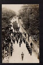 Conway - Military Funeral - real photographic postcard