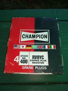 Champion Copper Plus Spark Plugs  Rv 9 yc   No.400   Pack of 4