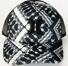 Hurley Half Mesh Geo Print Trucker Hat Cap The One & Only Hurley Surf Beach