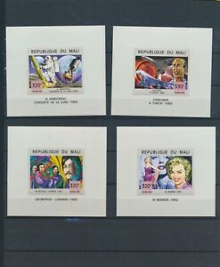 XC77010 Mali imperf historical figures fp sheets XXL MNH